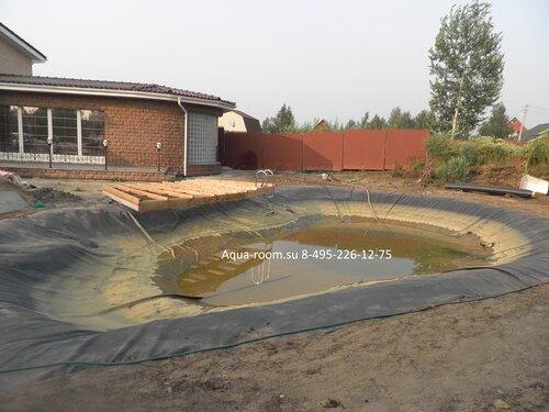 Пруд на участке дома гидроизоляция пруда aqua-room.su 8-495-226-12-75