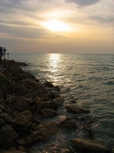 Закат на озере Ван, Турция