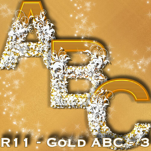 золотой алфавит(4 алфавита)