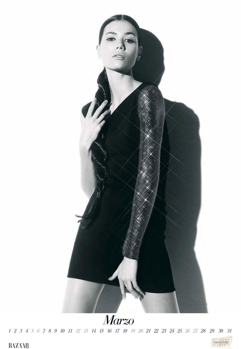 Шейла Маркес / Sheila Marquez by Nico in Harper-s Bazaar Spain 2011 calendar - март