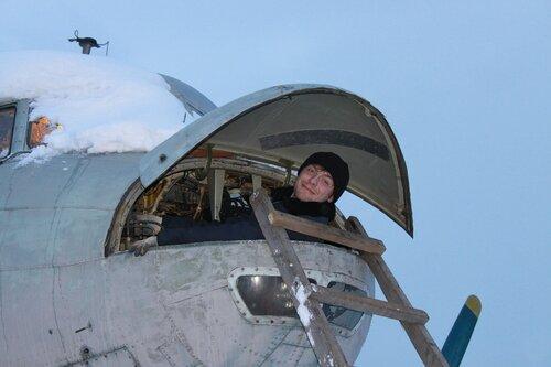 Евгений в носу Ил-14