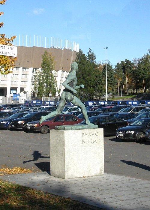 Runner Paavo Nurmi monument