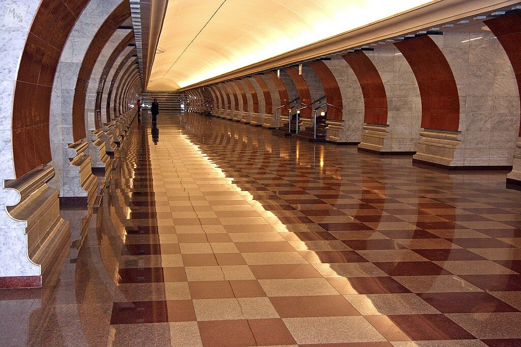 Park Pobedy station, Metro, Moscow, Russia