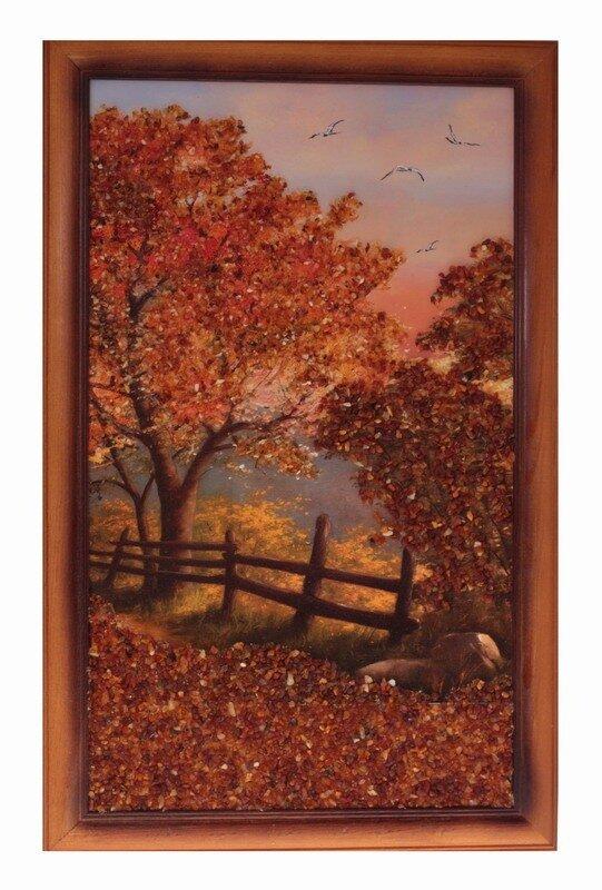 Панно золотая осень в картинках
