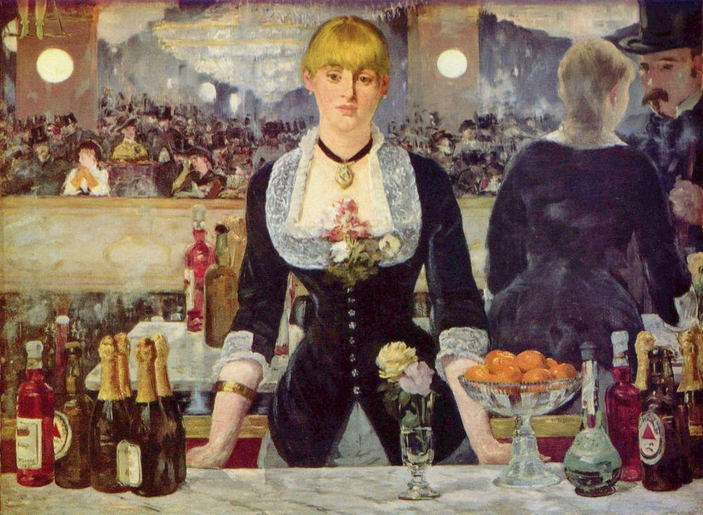 Мане, Бар в «Фоли-Бержер» (1882)  Edouard_Manet, A Bar at the Folies-Bergère (2536 пикс)