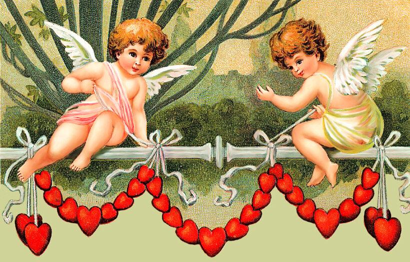 Картинки день святого валентина ангелы