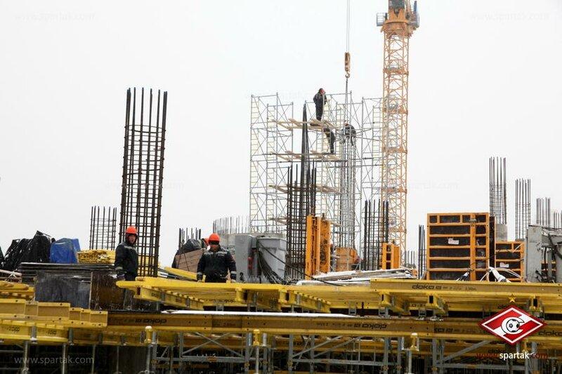 Строительство стадиона «Спартак» начало февраля 2012 (Фото)