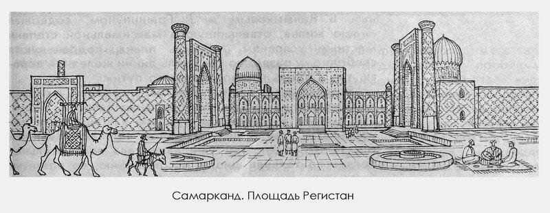 Ансамбль Регистан в Самарканде, план