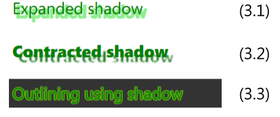Spreaded Shadows