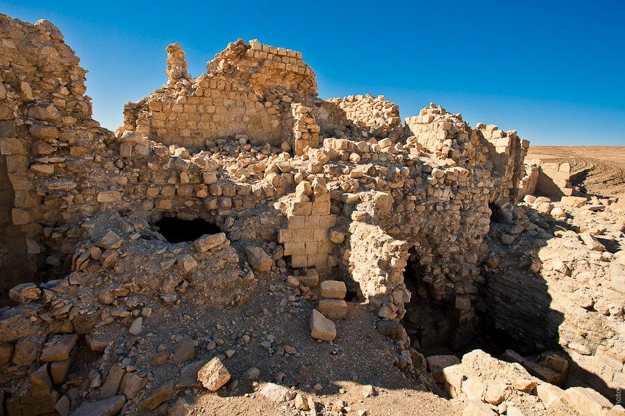 Руины замка крестоносцев Монреаль/ Montreal Crusader castle ruins