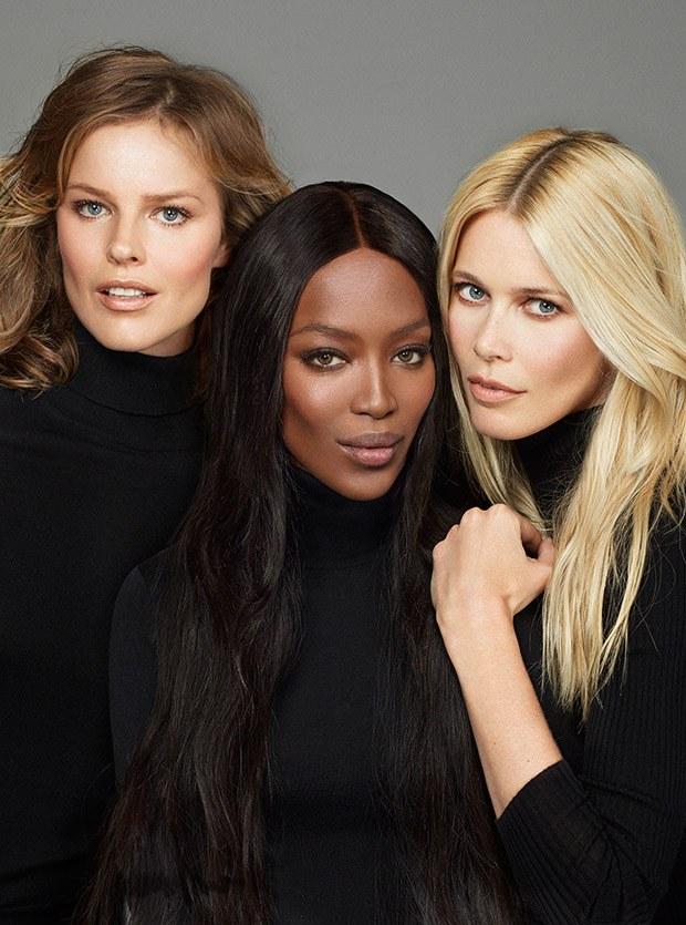 Клаудия Шиффер (Claudia Schiffer), Ева Герцигова (Eva Herzigova) и Наоми Кэмпбелл (Naomi Campbell) в журнале Vogue Turkey