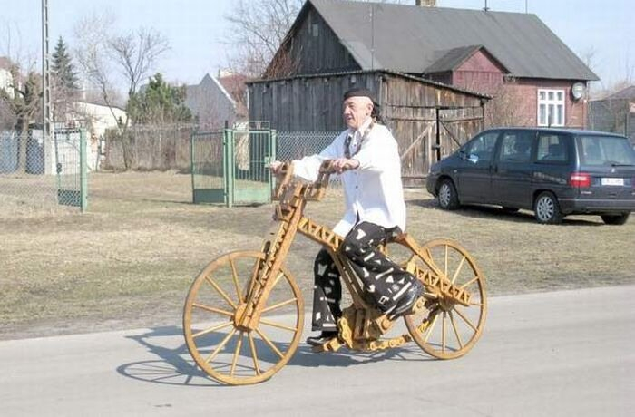 Когда водопроводчику скучно, он делает деревянные велосипеды 0_8a3b3_7d1b76bf_XL