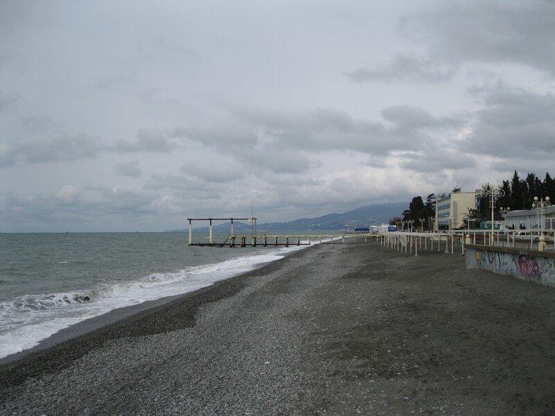 Адлер. Пляж Огонёк