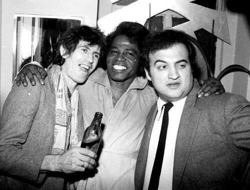 Keith Richards,James Brown,and John Belushi