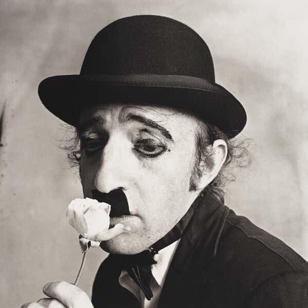 Irving Penn, Woody Allen as Chaplin, New York, 1972