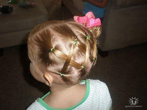 Прически для маленьких девочек своими руками