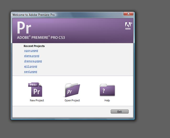 Видеомонтаж  - открываем Adobe Premier