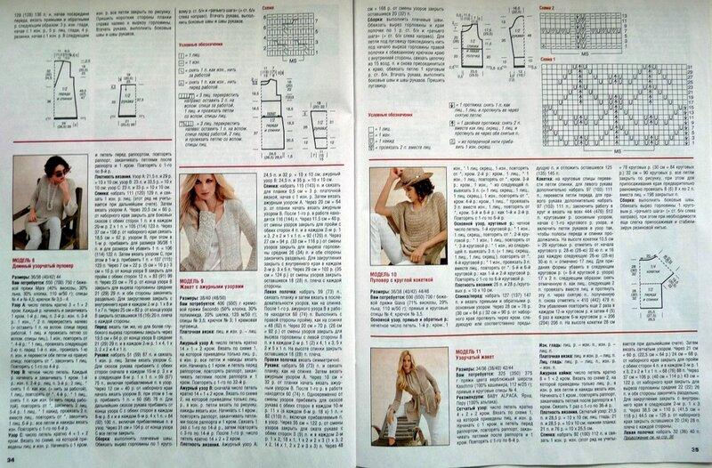 Журналы по вязанию спицами и схемы сабрина посмотреть
