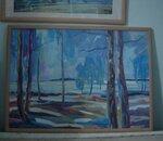 """картина """"Весна на Береговой в 2009 году.Остров Тайвань. Новосибирск"""" акрил 50 х 70 см"""