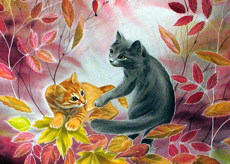 Картинки животных на батик