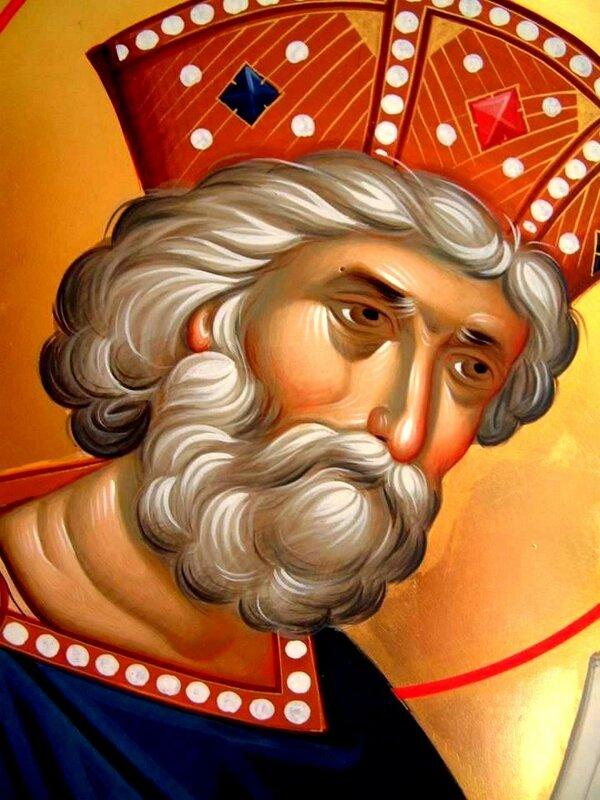Святой Пророк Царь Давид. Иконописец Александр Рудой.