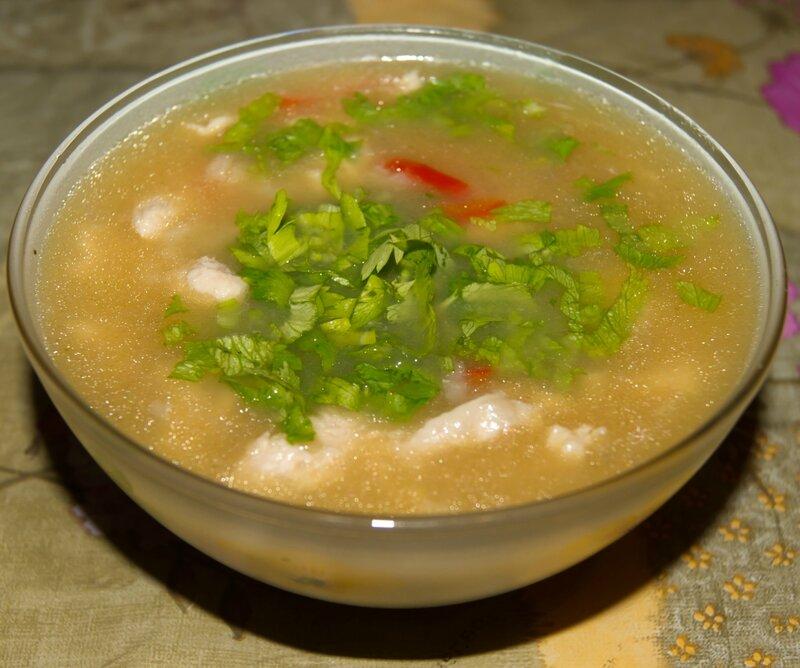 Пикантный суп с рисом