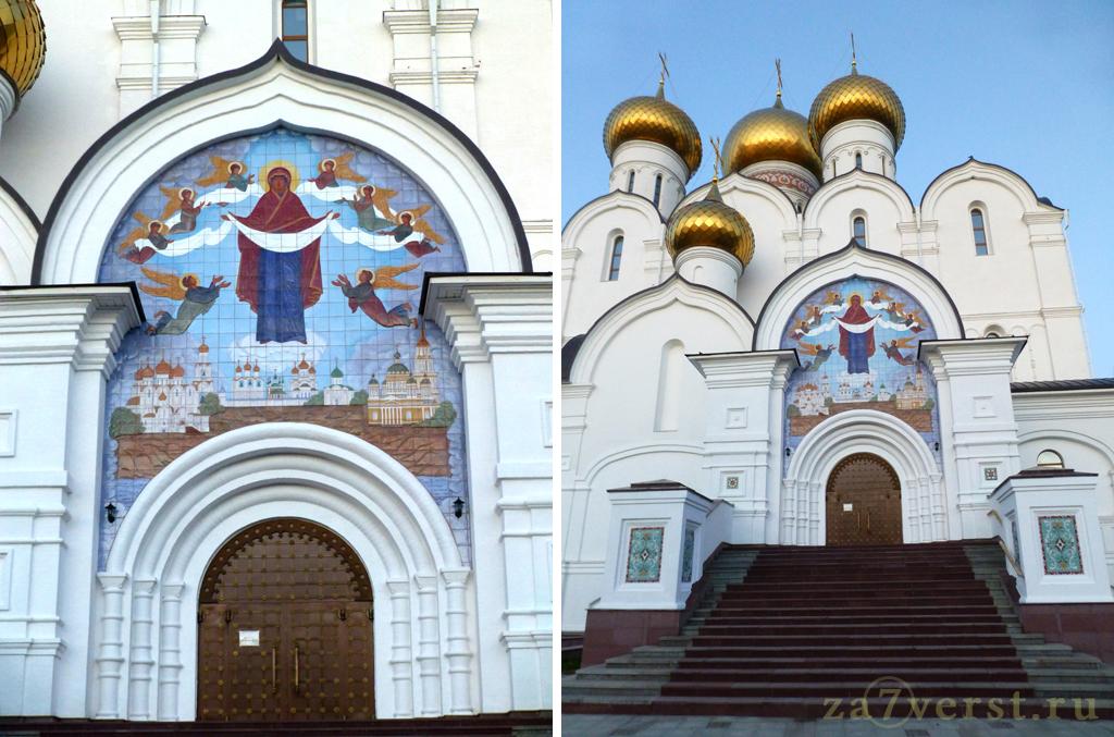 Изразцовая икона Успения Божьей матери. Успенский кафедральный собор в Ярославле