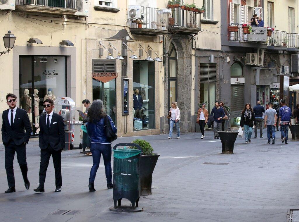 Naples. Street Of Naples (Via Toledo)