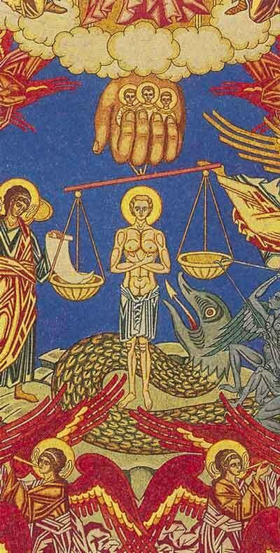 И.Я. Билибин. Страшный суд (фрагмент)