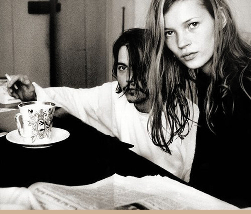 Johnny Depp y Kate Moss TEA