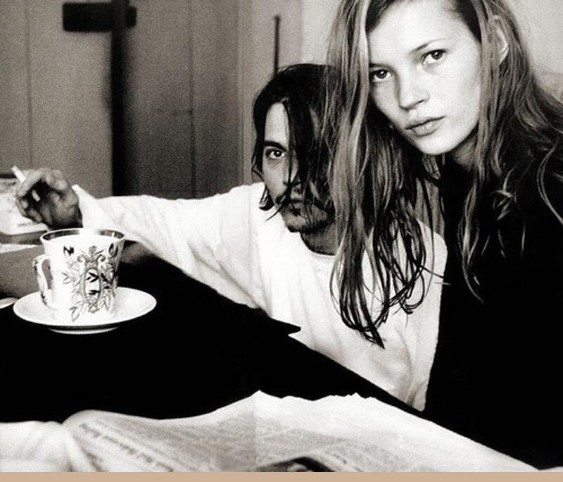 Johnny Depp y Kate Moss TEA