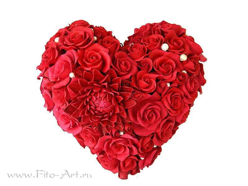 цердце из роз