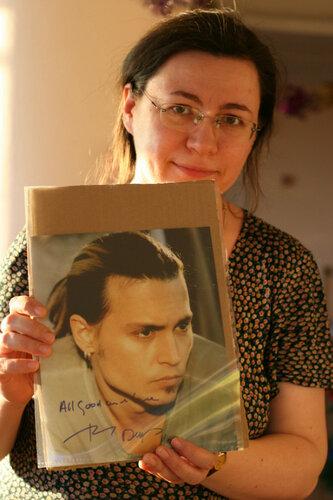 Мария П. Фотография с автографом Джонни Деппа