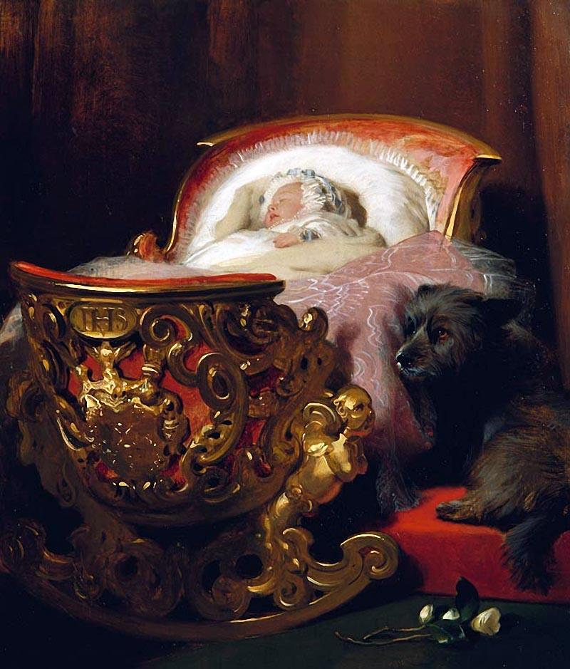 Edwin Landseer (1803-73) Princess Alice asleep 1843