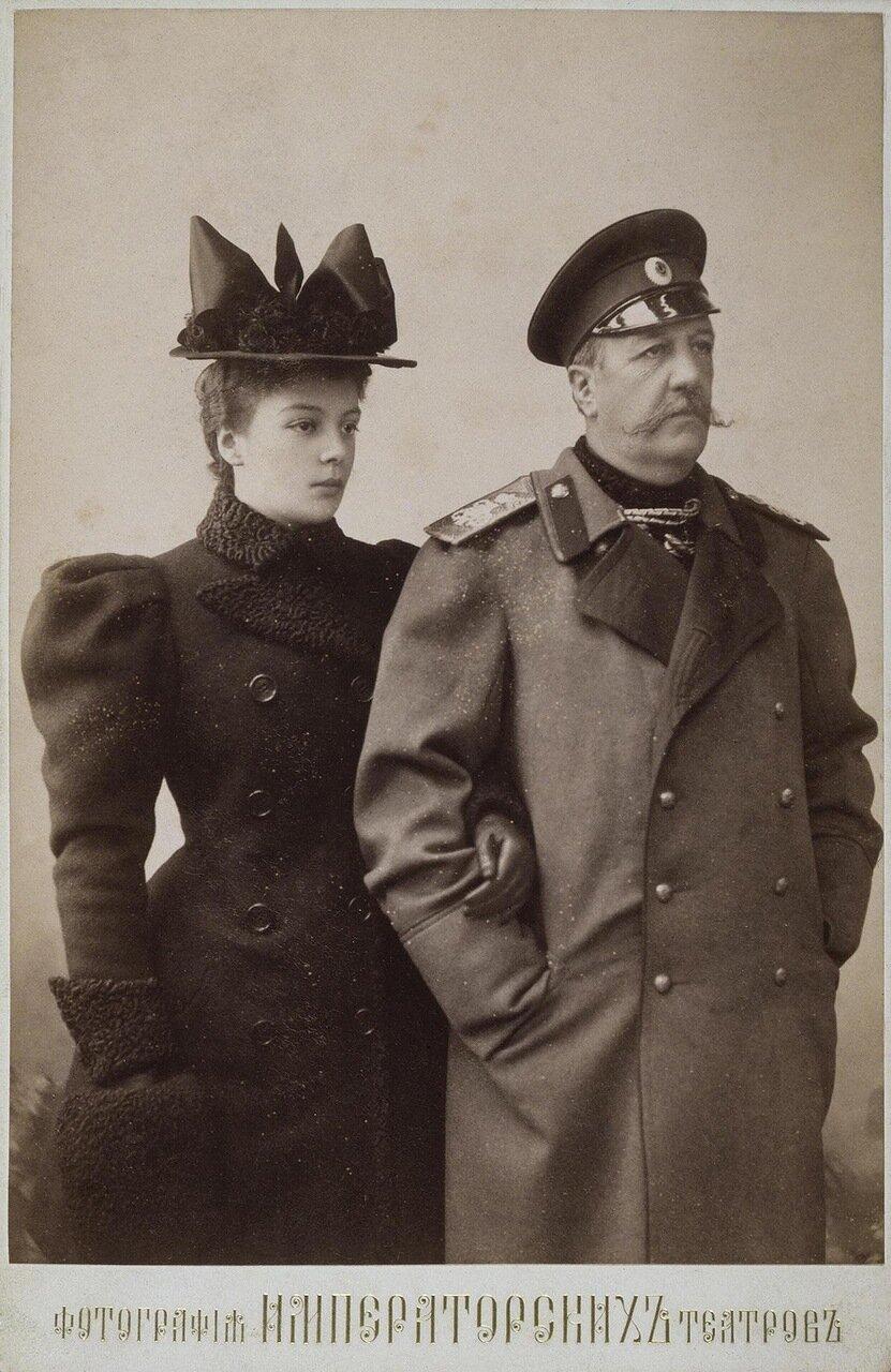 Портрет графа Иллариона Ивановича Воронцова-Дашкова с дочерью