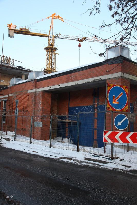 Строящийся торгово-офисный центр Негоциант
