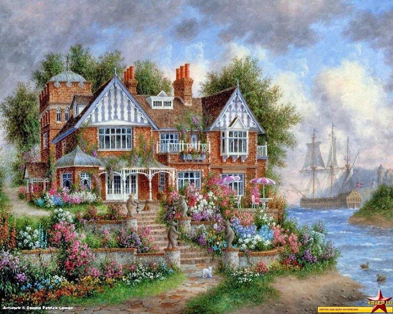 Сказочные домики и дворики.