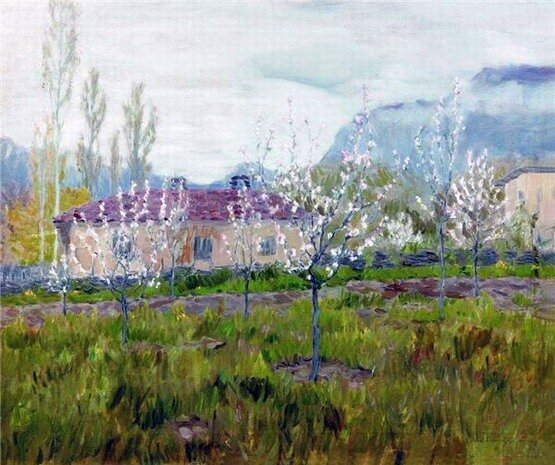 Бялыницкий-Бируля Витольд Каэтанович (1872-1957). Цветущий май, 1912.
