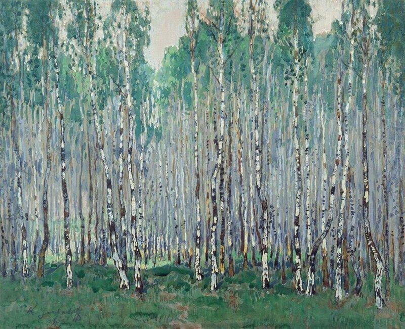 Горбатов Константин Иванович (1876-1945). Весна в березовой роще. 1932.