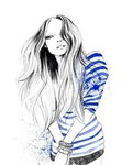 рисованная девушка