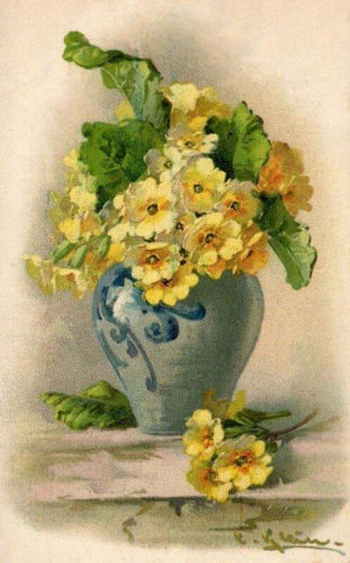 К. Кляйн. Цветы в вазе.