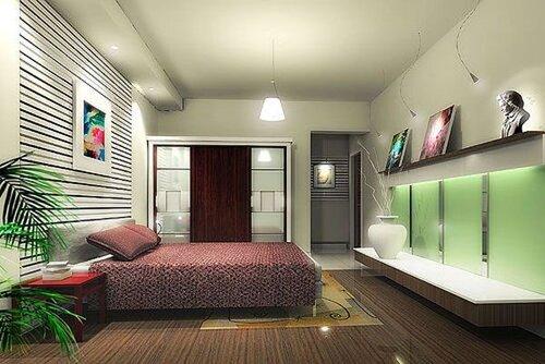 Спальня-современный интерьер