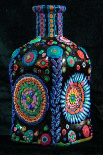 Бутылки с полимерной глиной Джоан Израиль