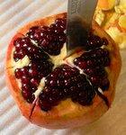 как разрезать плод граната на 6 частей, чтобы не повредить гранул