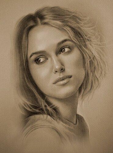 портрет карандашом онлайн: