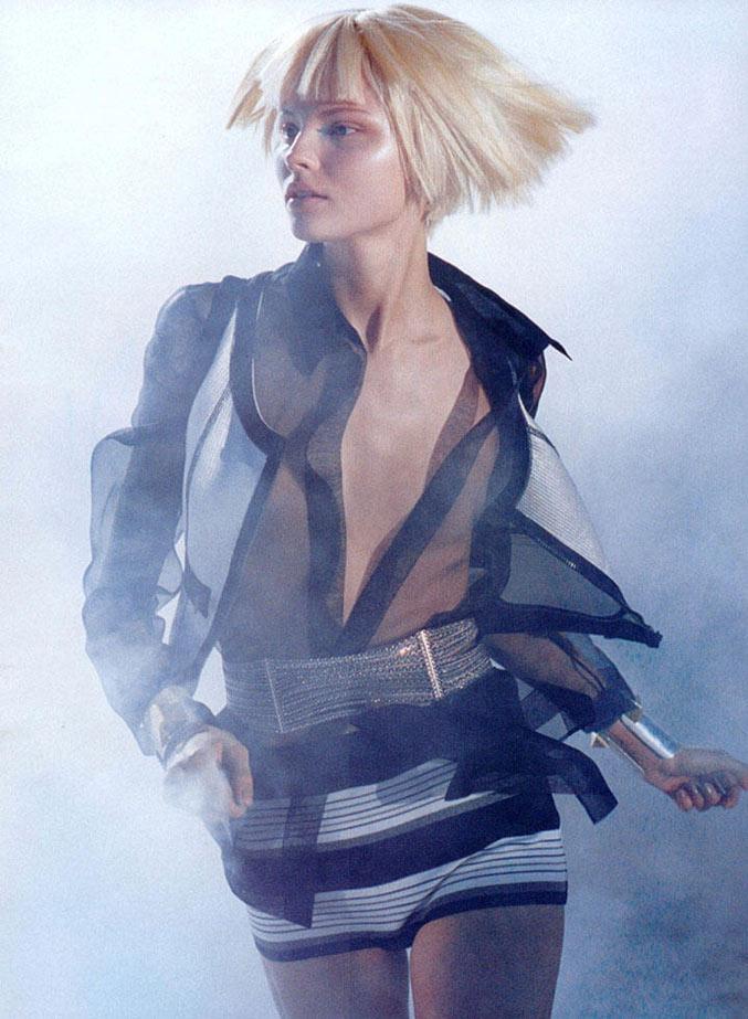 модель Магдалена Фраковяк / Magdalena Frackowiak, фотограф Peter Lindbergh