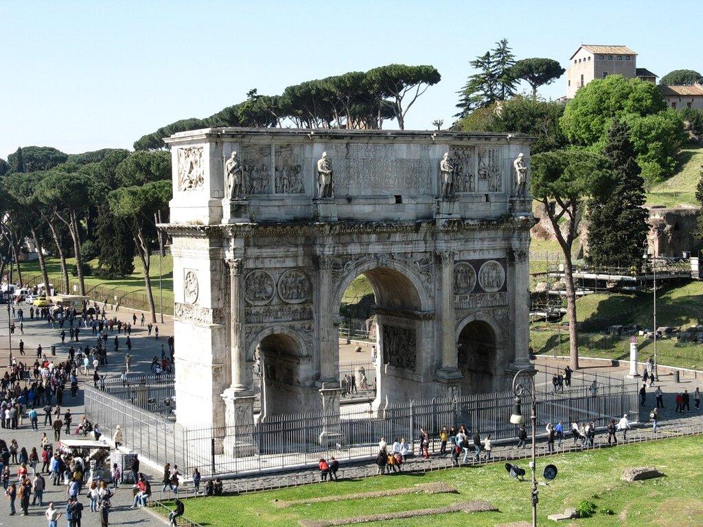 Рим. Триумфальная арка Константина