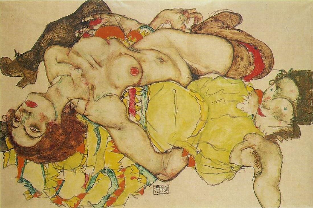 Любовницы,1915, Шиле Эгон (1890-1918