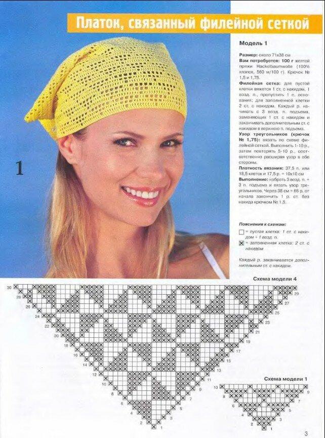 Вязание косынок для девочек крючком 71