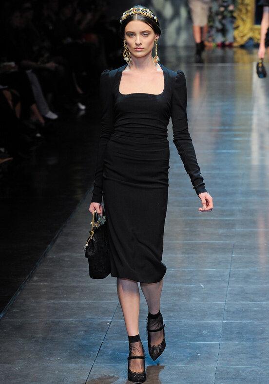 Коллекция, поразившая меня на этот раз, Dolce & Gabbana осень-зима...